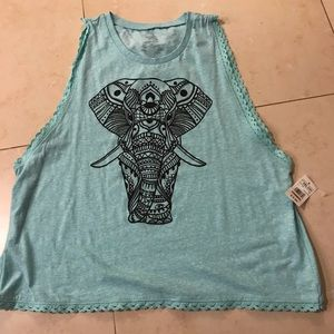 2x workout tank with elephant print